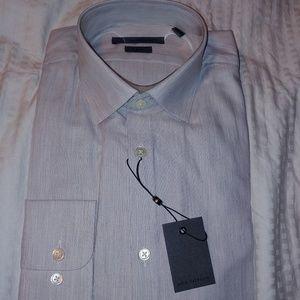 John Varvatos  Mens Dress Shirt Sz 15.5 34-35 Gray